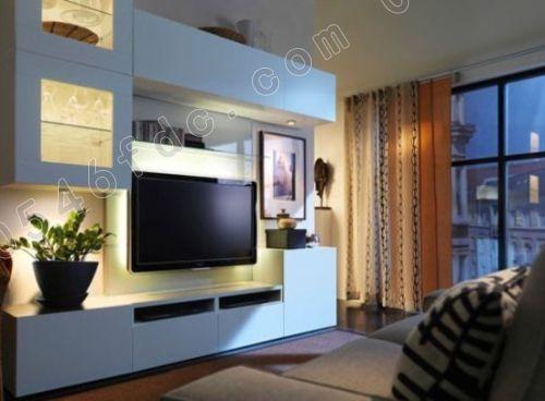 收纳型客厅电视墙 给小户型更大空间感