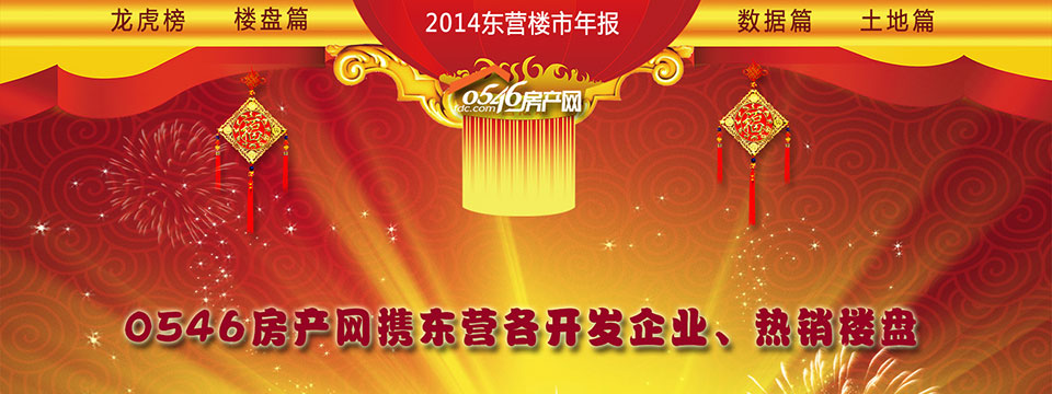 0546房产网携东营各开发企业、热销楼盘2015恭贺新禧