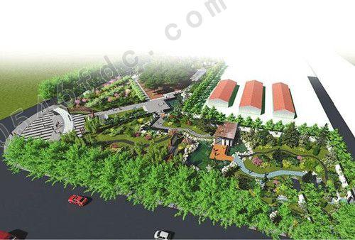东二路游园规划设计(效果图)