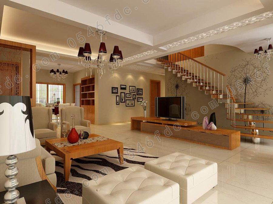 复式楼客厅装修设计经典效果图赏析