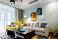 75㎡面积两房两厅简约风格家装赏析
