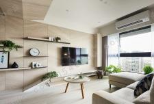 115平现代简约风格三居室装修清新木质家