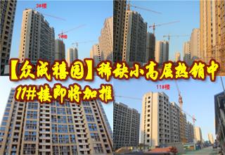 【众成禧园】稀缺小高层热销中 11#楼将推