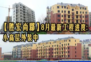 【胜宏尚郡】8月最新工程进度:小高层外装中