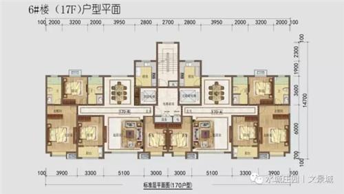 【水城庄园文景城】二期高层 170㎡户型图 四室两厅两卫