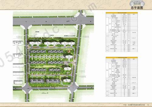总平面布局:沿用地北侧布置3栋11层住宅,用地东侧布置2栋11层住宅