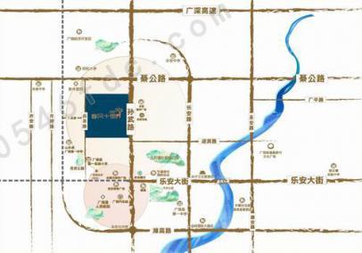 广饶春风十里区位图