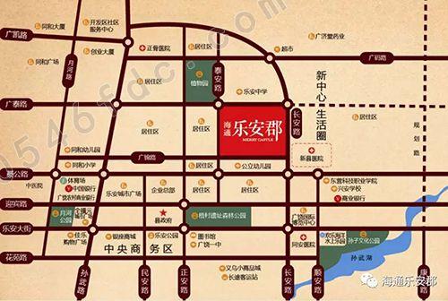 【广饶海通乐安郡】项目区位图