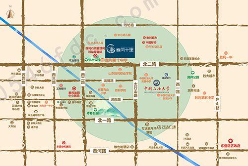 【东营春风十里】区位图