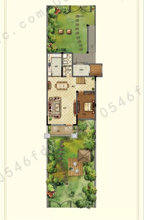 别墅庭院景观功能分区