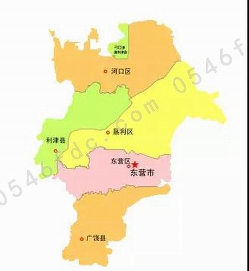 东营市行政区划图