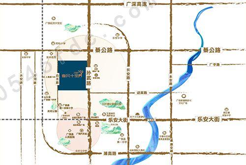 【广饶春风十里】区位图