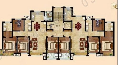 146型户型四室两厅两卫户型图