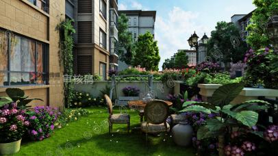 【海通佳苑】一楼庭院效果图