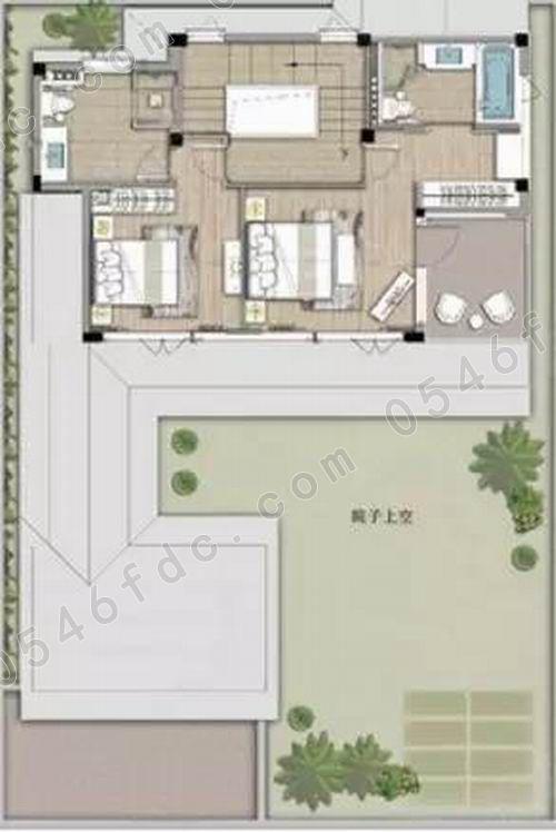 注:本户型布局及面积仅供参考,最终以设计院设计图纸为准!