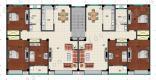 黄河口度假小镇【黄河口度假小镇】150㎡三室两厅一厨一卫户型图