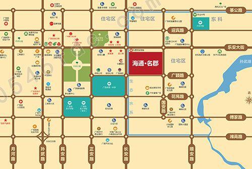 【广饶海通名郡】项目区位图