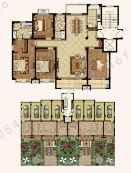 【利津书香华庭】平叠院墅 180型 四室两厅两卫
