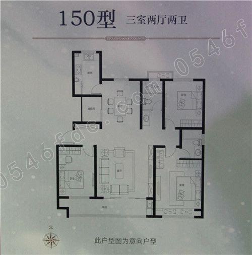150户型三室两厅两卫