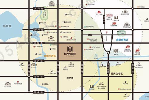 中央丽景项目区位图