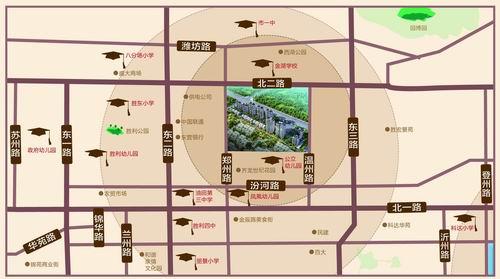 齐龙悦翔学府区位图