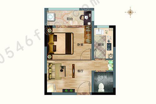 小公寓户型图