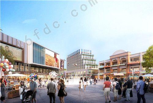 【垦利博冠城市商业广场】中心广场透视效果图