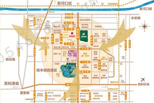 【垦利博冠城市商业广场】区位图